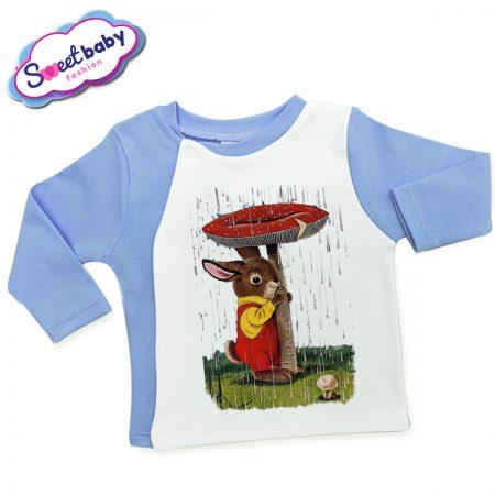 Бебешка жилетка Зайче под дъжда