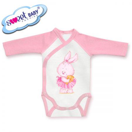 Бебешко боди прегърни ме Розово зайче