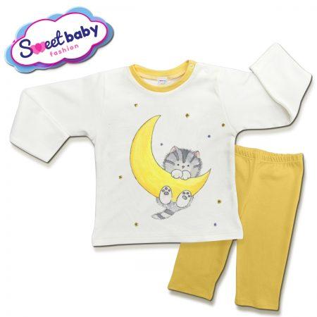 Детска пижама Коте и луна