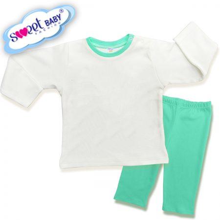 Детска пижама в мента и бяло