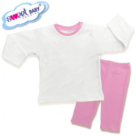 Детска пижама в розово и бяло