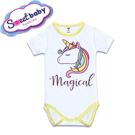 Бебешко боди с къс ръкав Магически еднорог