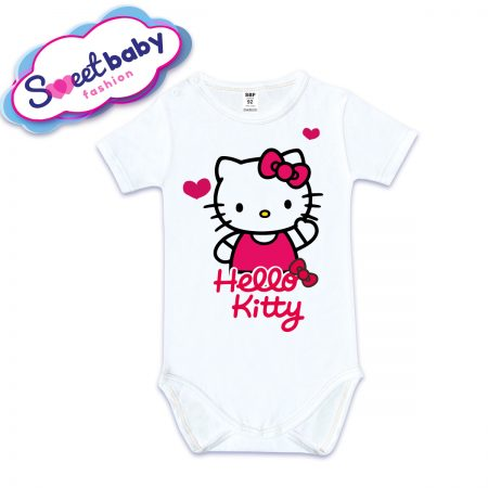 Бебешко боди с къс ръкав Hello Kitty