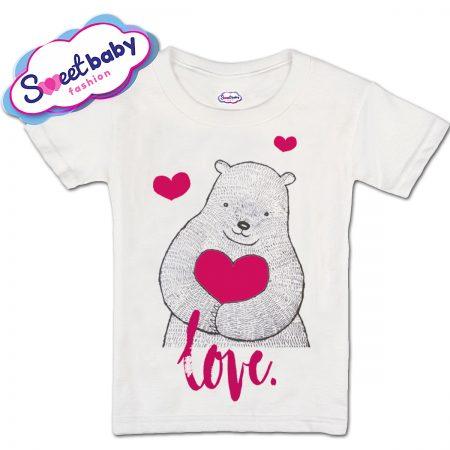 Детска тениска Мече Сърце