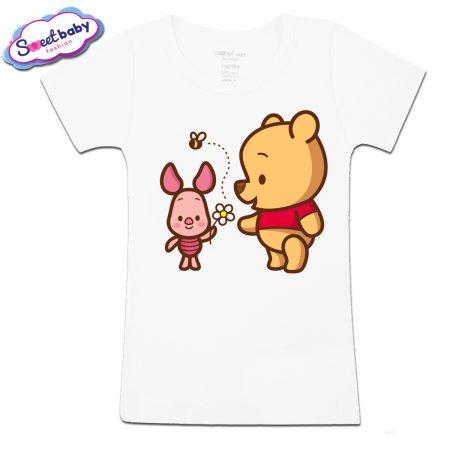 Детска тениска Мечо Пух и Прасчо