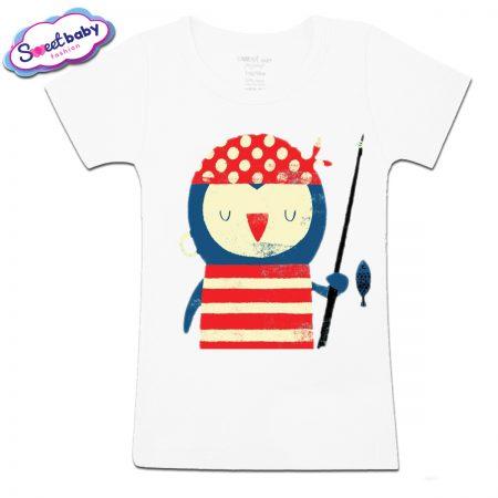 Детска тениска Пингвин моряк