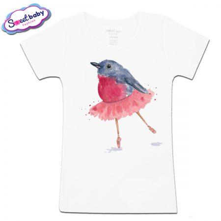 Детска тениска Птичка балеринка