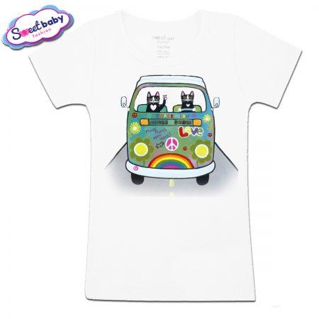 Детска тениска Котета на път