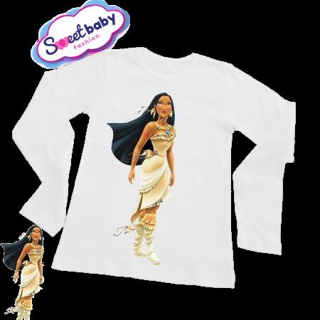 Детска блузка с дълъг ръкав Покахонтас