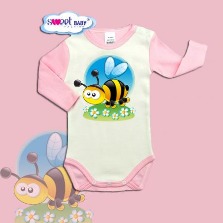 Бебешко боди с дълъг ръкав Пчеличка