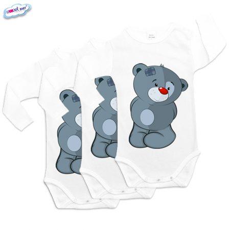 Бебешки бодита Плюшен мечко сет от 3