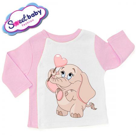 Бебешка жилетка Розово слонче с балонче