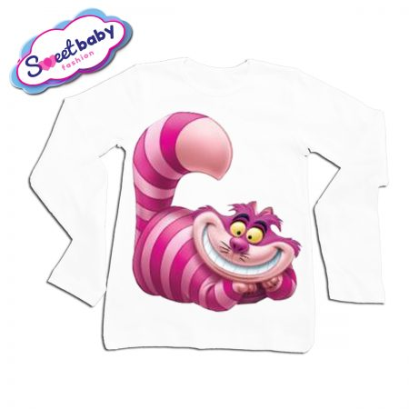 Детска блузка с дълъг ръкав Чеширска котка