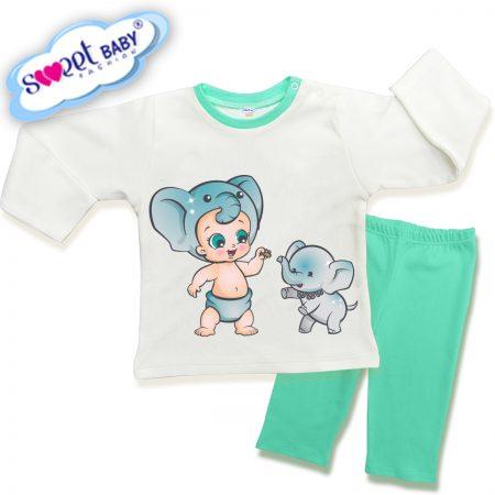 Детска пижама Бебе слонче