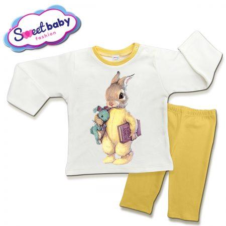 Детска пижама Заек с книжка