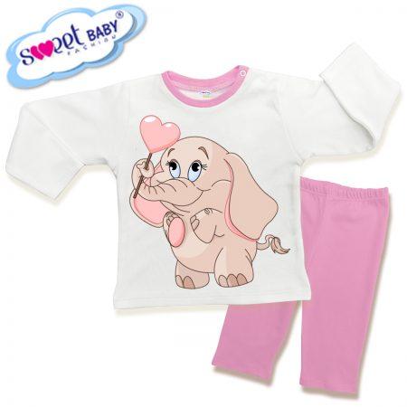 Детска пижама Розово слонче с балонче