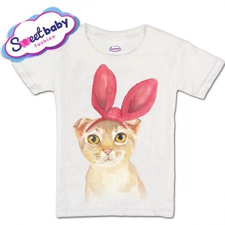 Детска тениска Коте с ушички