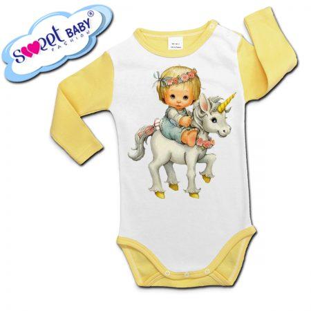 Бебешко боди с дълъг ръкав Деца на еднорог