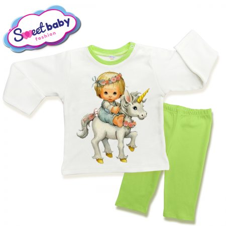 Детска пижама детенце на еднорог