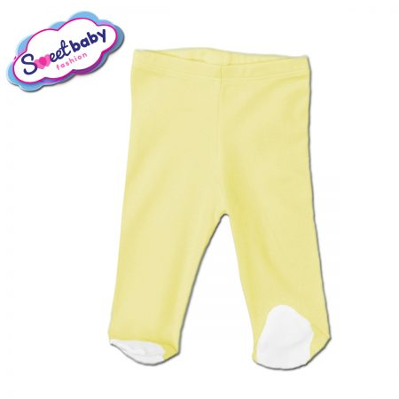 Бебешки ританки в жълто и бяло