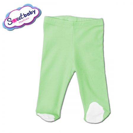 Бебешки ританки в зелено и бяло