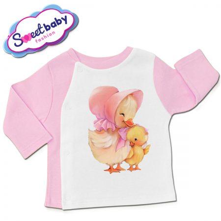 Бебешка жилетка Мама патка
