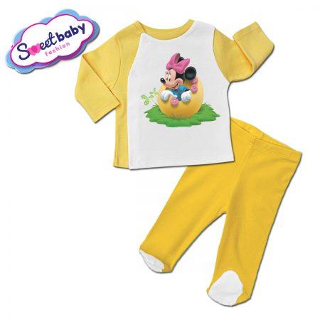 Бебешки сет в жълто Мини Маус и яйце