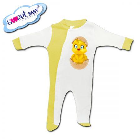 Бебешко гащеризонче в жълто Излюпено пиленце
