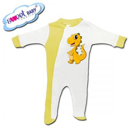 Бебешко гащеризонче в жълто Малко динозавърче