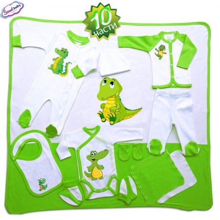 Комплект за изписване Дино в зелено