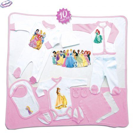 Комплект за изписване Принцеси розово 10 части
