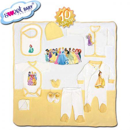 Комплект за изписване в жълто Принцеси 10 части