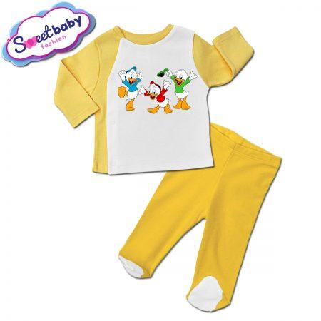 Бебешки сет ританки с жилетка в жълто Патетата