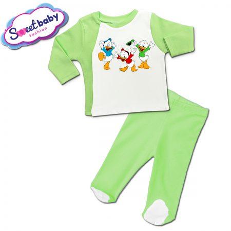 Бебешки сет ританки с жилетка в зелено Патетата