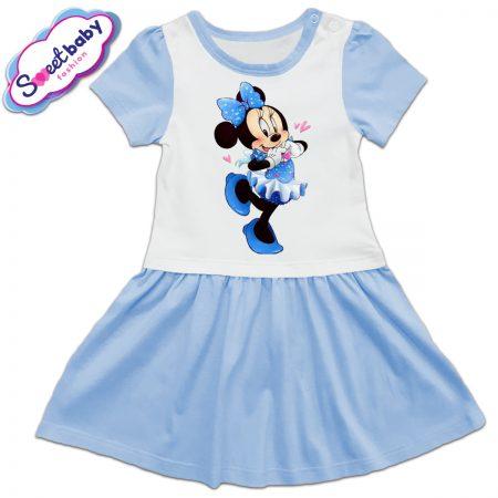 Детска рокличка Мини Маус със синя панделка