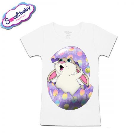 Детска тениска Великденско зайче