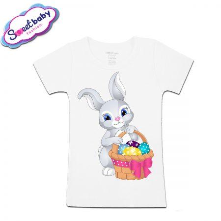 Детска тениска Зайче с шарени яйца