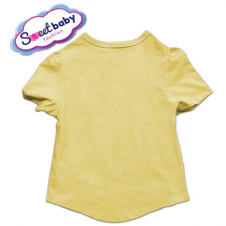 Детска туника в жълто и бяло гръб