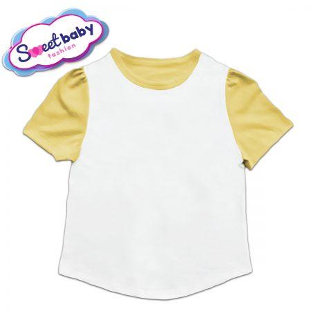 Детска туника в жълто и бяло