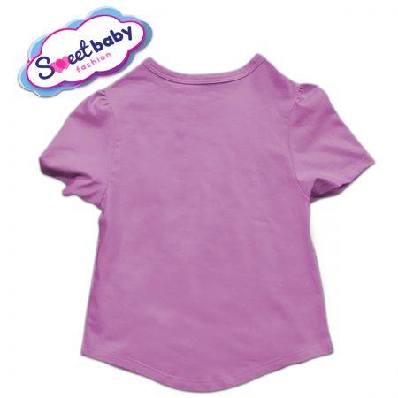 Детска туника в розово и бяло гръб