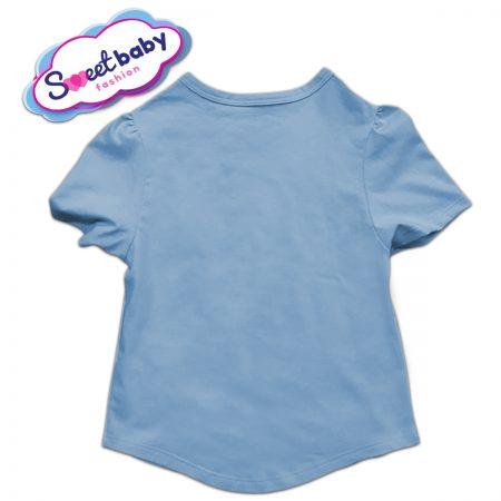 Детска туника в синьо и бяло гръб