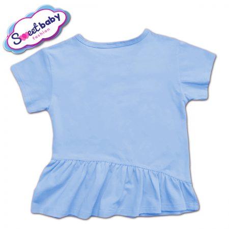 Детска туника с харбала в синьо и бяло гръб