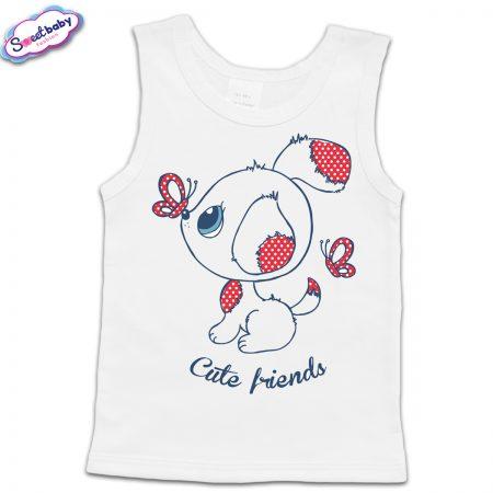 Детски потник в бяло Cute friends