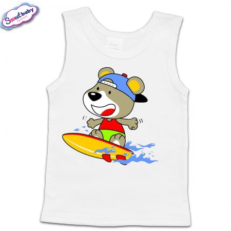 Детски потник в бяло Surf