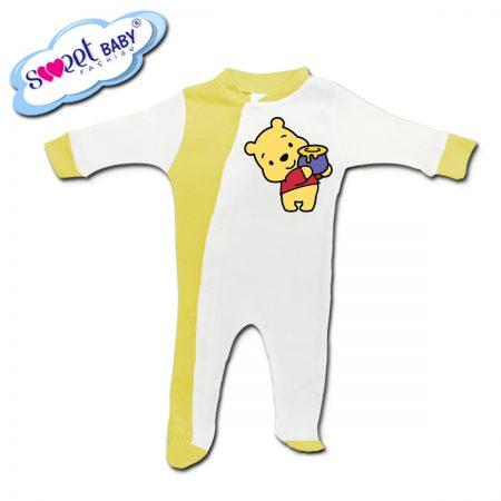 Бебешко гащеризонче в жълто Мечо-Пух