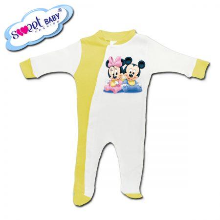 Бебешко гащеризонче в жълто Мики бебета