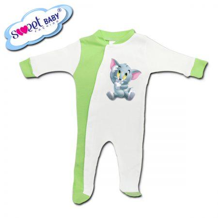 Бебешко гащеризонче в зелено Бебе коте