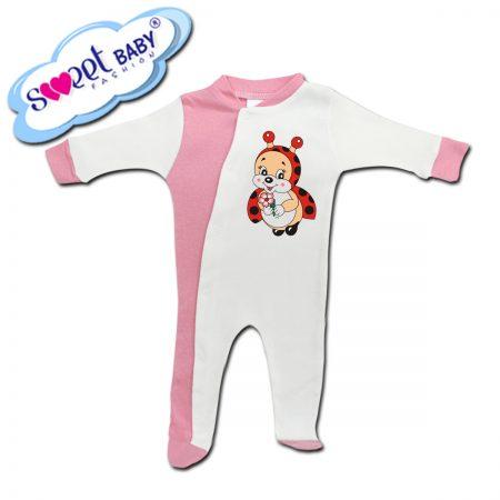 Бебешко гащеризонче в розово и бяло Калинка
