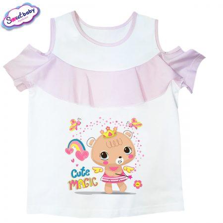 Детска блузка с рязан ръкав Cute-Magic