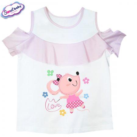 Детска блузка с рязан ръкав Love-maus